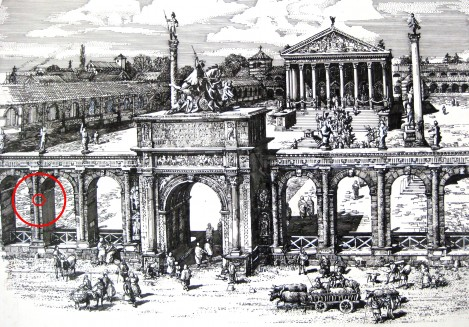Monumental arcade in front of Temple ofClaudius