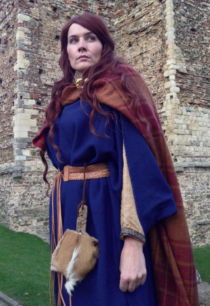 re-enactor dressed as Boudica